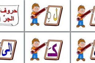 صورة معاني حروف الجر , تعليم حروف الجر