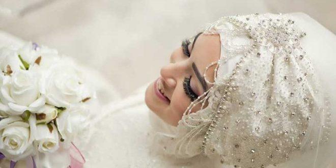 صور فساتين زفاف للمحجبات النحيفات , كونى كالبدر بليلة العمر