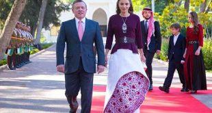 صورة ازياء الملكة رانيا , اجدد اطلالات الملكه رانيا