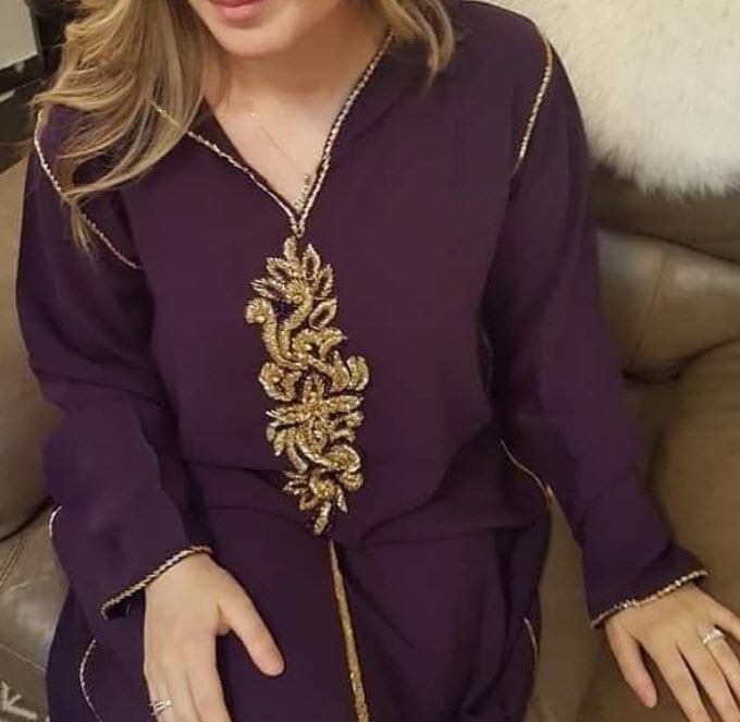 صورة جلابة مغربية عصرية , اخر صيحات الجلابه المغربيه 2836 17