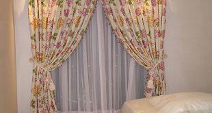 صورة ديكورات ستائر غرف نوم , ستائر بالوان جديدة