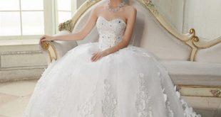 صور اجمل فساتين العرائس , كوني كالبدر بليلة زفافك