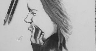 صور كيفية رسم فتاة حزينة , تعليم الرسم خطوة بخطوة للمبتدئين