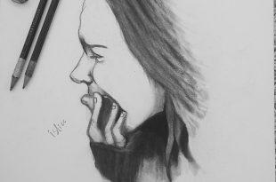 صورة كيفية رسم فتاة حزينة , تعليم الرسم خطوة بخطوة للمبتدئين
