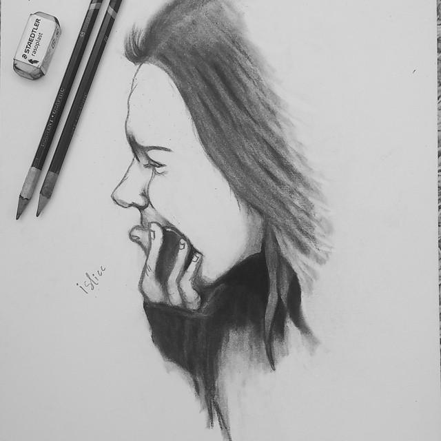 كيفية رسم فتاة حزينة تعليم الرسم خطوة بخطوة للمبتدئين حزن و الم