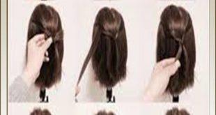 صورة تعليم تسريحات الشعر خطوة بخطوة , تالقي باحلي التسريحات