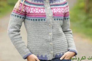 صورة بلوزات كروشيه شتوى , اشبك لبس كروشيه