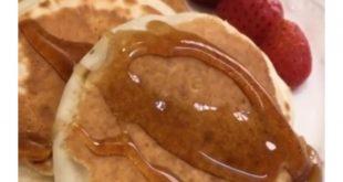 صورة طريقة بان كيك بدون بيض , اسرع وجبة للفطار