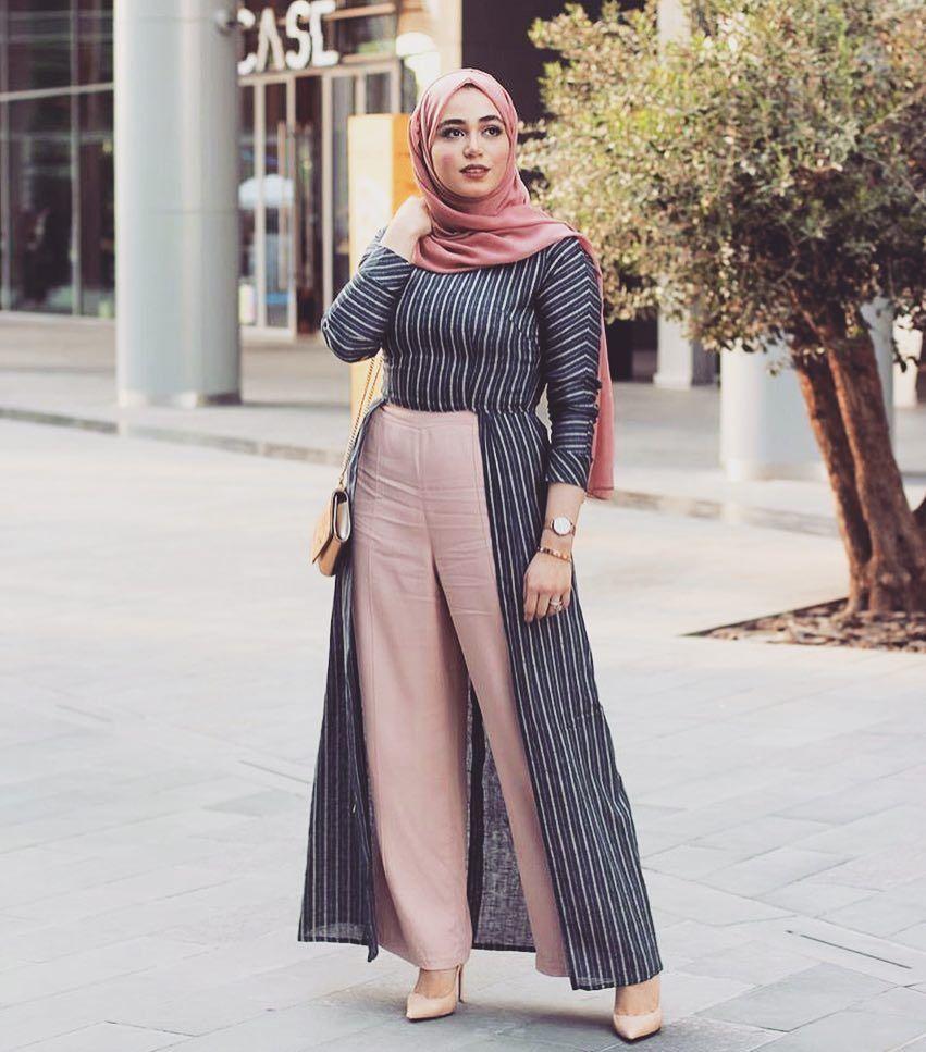 صورة احدث ملابس محجبات 2019 , لبس محجبات يهوس