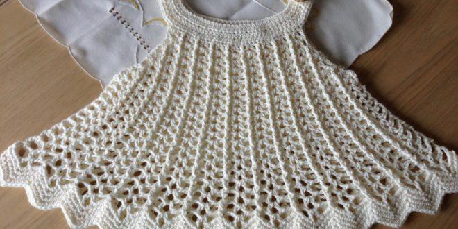 صورة طريقة عمل فستان اطفال كروشية خطوة بخطوة , اسهل طرق صنع فساتين اطفال