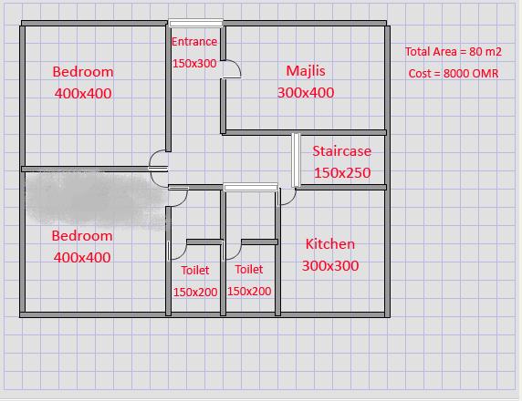 صورة خريطة منزل 80 متر , خرائط منزل 80 متر 1818