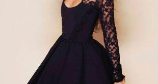 صورة احدث صيحة فى عالم الموضة للفساتين القصيرة,صور فستان سهرة