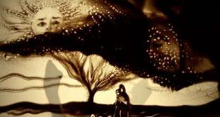 صورة مش معقول صور الفن الحديث عن طريق الرمل,الرسم على الرمل