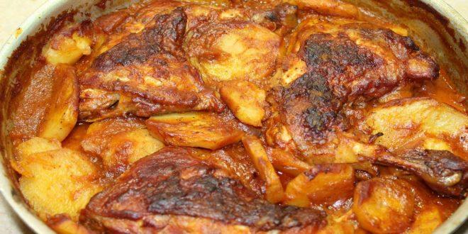 صورة مش ممكن اسرع وصفة في تحضريها,طريقة عمل صينية البطاطس بالفراخ بالصور
