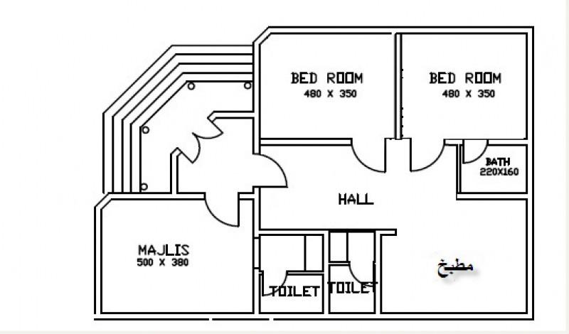 صورة خريطة منزل 80 متر , خرائط منزل 80 متر 1818 3
