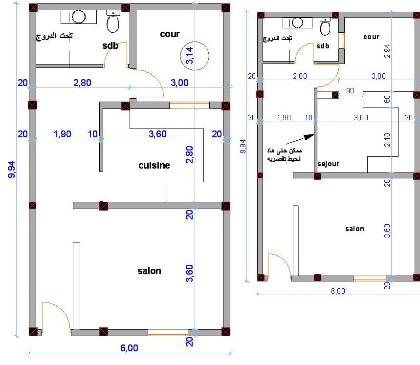 صورة خريطة منزل 80 متر , خرائط منزل 80 متر 1818 7