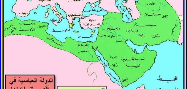صورة من اكثر الخلافات الى استمرت عبر اعوام , خريطة العصر العباسي 2077 8